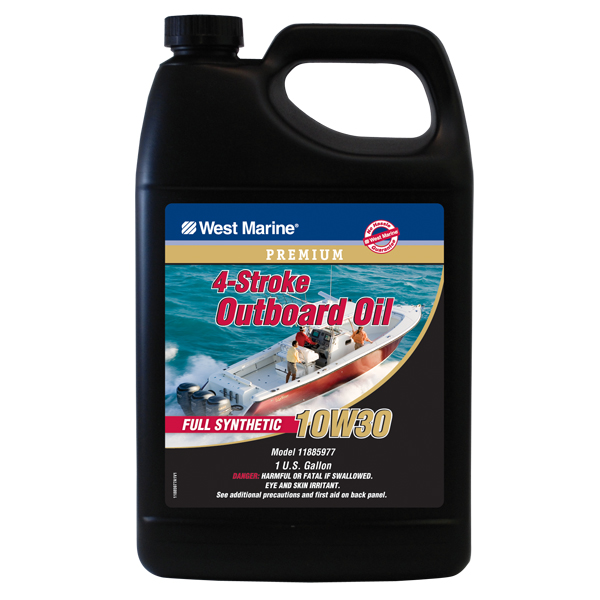 West marine premium 4stroke full synthetic engine oil for Best price motor oil