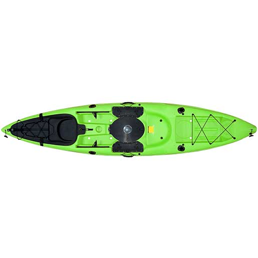 Malibu Kayaks Stealth-12 Fish and Dive Kayak, Sit-On-Top, Lime