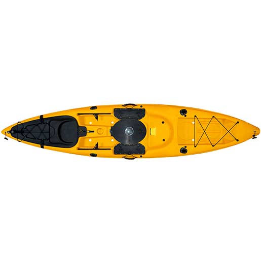 Malibu Kayaks Stealth-12 Fish and Dive Kayak, Sit-On-Top, Mango