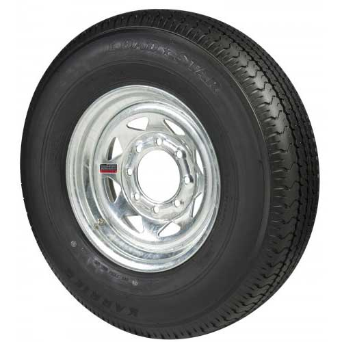 C E Smith Radial Tire & Wheel Assembly, Galvanized, 16 x 8 Rim, 8 x 6.5 Bolt, ST235/80R16, Radial, 3800 Capacity