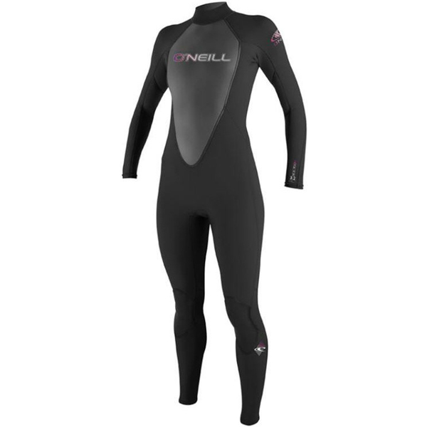 O'neill Women's Reactor 3/2 Full Wetsuit, Black, 16