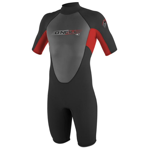 O'neill Youth's Reactor Spring Wetsuit, Black/red/Red, 14