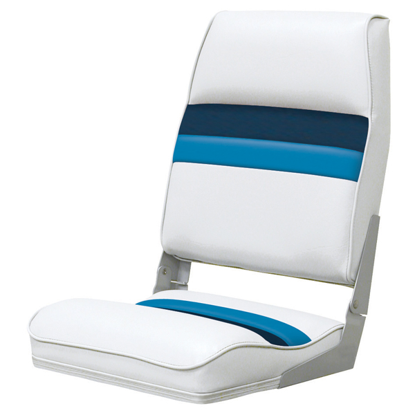 Wise Seating Fold-down Seat, White/Navy/Blue