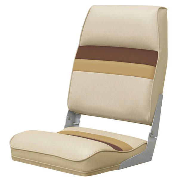Wise Seating Fold-down Seat, Sand/Chestnut/Gold