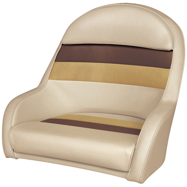 Wise Seating Bucket Style Captain's Chair - Sand/Chestnut/Gold