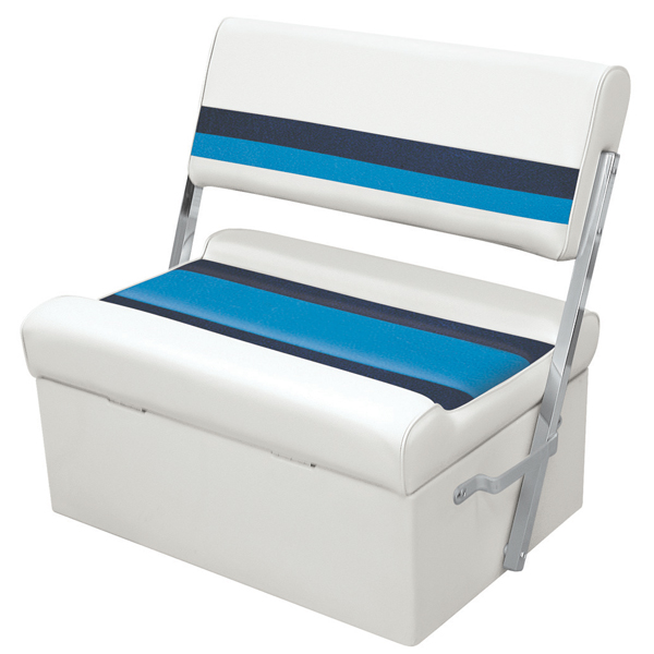 Wise Seating Flip-Flop Seat - White/Navy/Blue Sale $264.99 SKU: 12066239 ID# 8WD125FF-1008 UPC# 85211768192 :