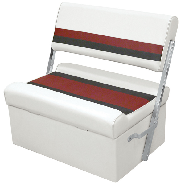 Wise Seating Flip-Flop Seat - White/Red/Charcoal Sale $254.99 SKU: 12066247 ID# 8WD125FF-1009 UPC# 85211768208 :