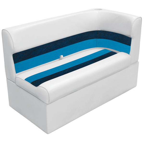 Wise Seating Corner Lounge Seat - White/Navy/Blue, Left Sale $344.99 SKU: 12066361 ID# 8WD131-1008 UPC# 85211769007 :