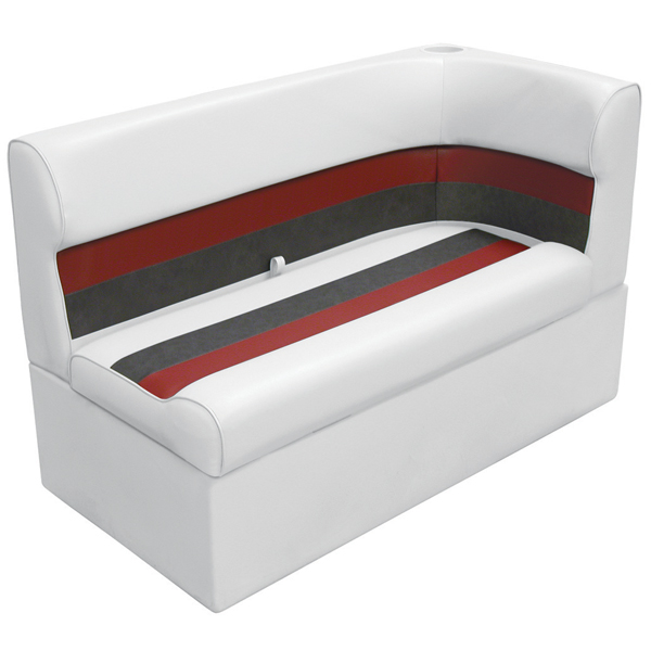 Wise Seating Corner Lounge Seat - White/Red/Charcoal, Left