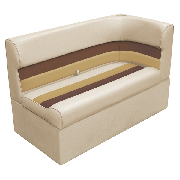 Wise Seating Corner Lounge Seat - Sand/Chestnut/Gold, Left