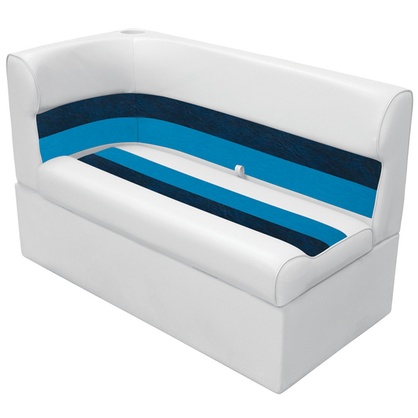 Wise Seating Corner Lounge Seat - White/Navy/Blue, Right Sale $399.99 SKU: 12066395 ID# 8WD132-1008 UPC# 85211769076 :
