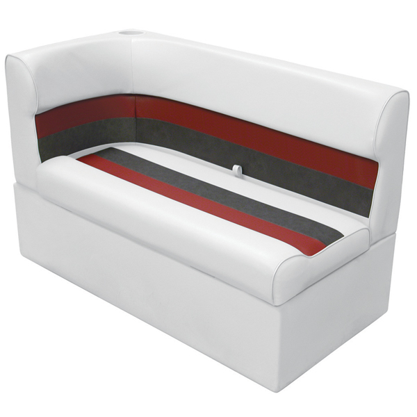 Wise Seating Corner Lounge Seat - White/Red/Charcoal, Right