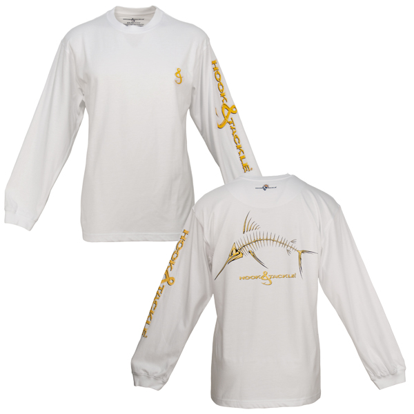 Men's Marlin X-Ray Long-Sleeve Tech Tee, White, M