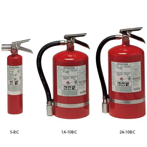Kidde Halotron I Fire Extinguisher, Agent Weight: 15 1/2lb., USCG Class: B-II, UL Rating: 2A; 10-B:C, Dimensions (H x W x Dia.): 17 1/8 x 8 3/4 x 7 1/4