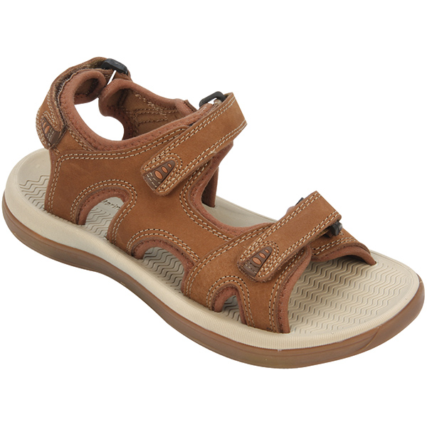 Women's Performance Boat Sandals, Oak, 7