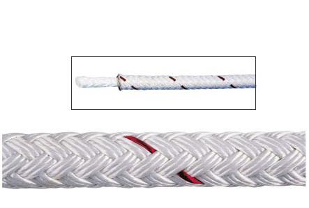 White Sta-Set Polyester Yacht Braid