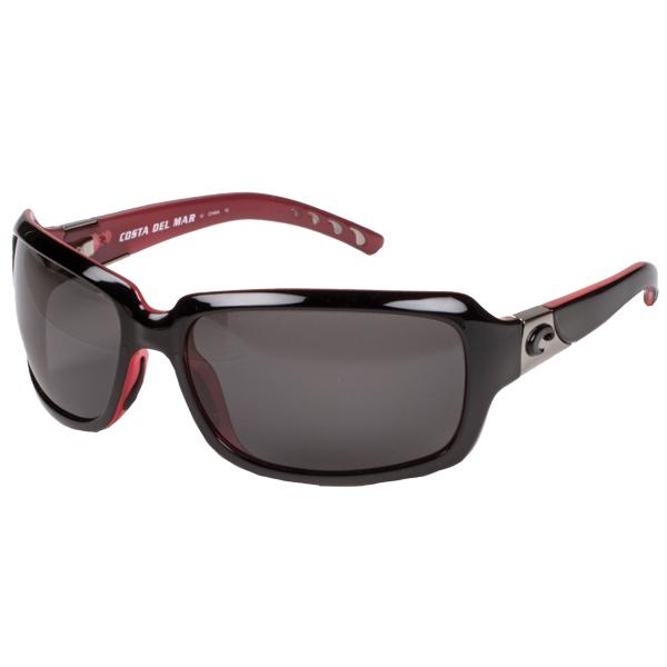 Women's Isabela Sunglasses, Shiny Black/gray Frames with Costa 580 Gray Plastic Lenses Sale $169.00 SKU: 12210696 ID# IB 32 OGP UPC# 97963475624 :