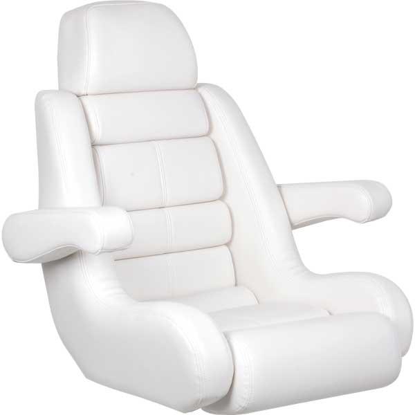 TODD 5-Star Flip-Up Helm Seat - White