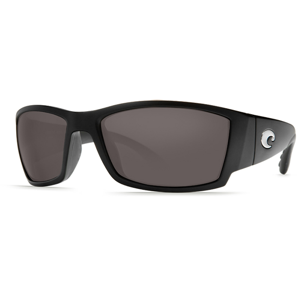 Corbina Sunglasses, Matte Black Frames with Costa 580 Gray Plastic Lenses