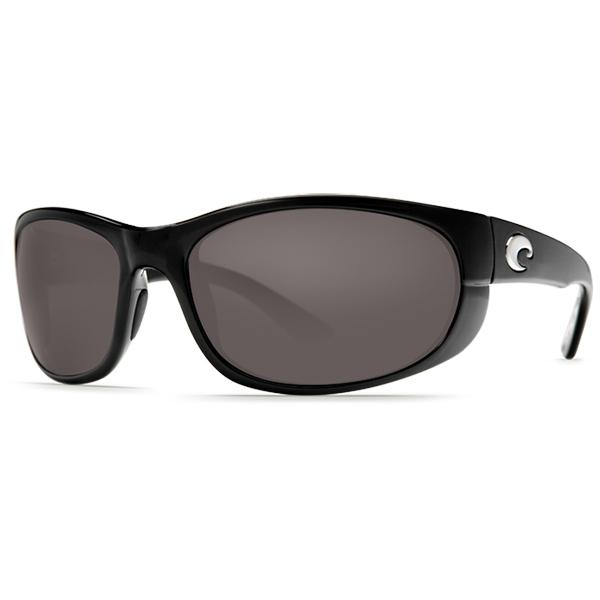 Women's Howler Sunglasses, Shiny Black/gray Frames with Costa 580 Gray Plastic Lenses