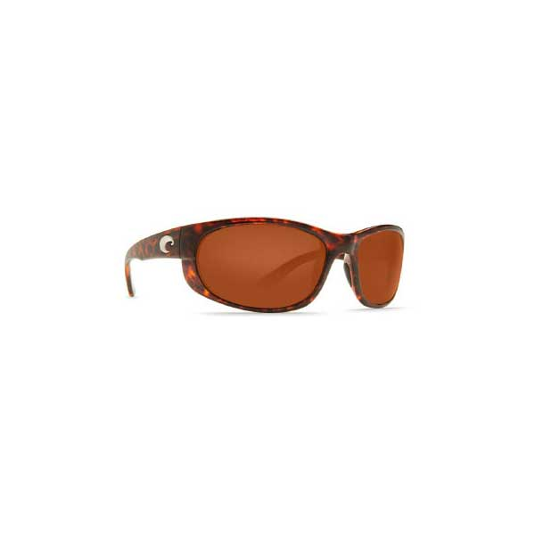 Women's Howler Sunglasses, Shiny Tortoise Frames with Costa 580 Copper Plastic Lenses Brown