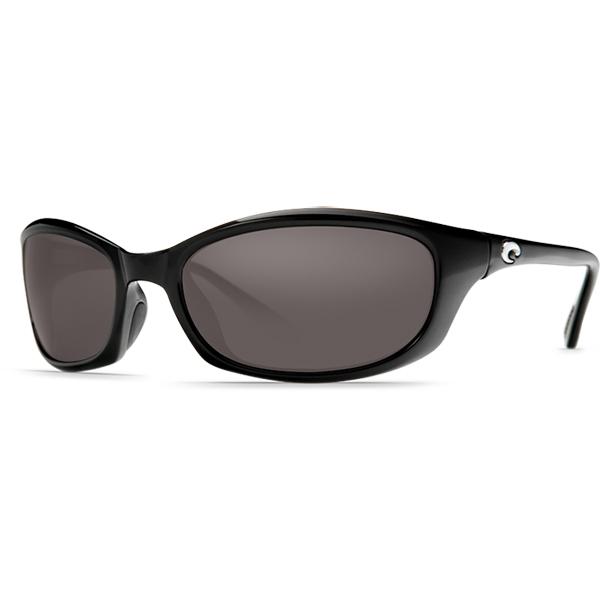 Harpoon Sunglasses, Shiny Black/gray Frames with Costa 580 Gray Plastic Lenses