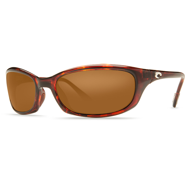 Harpoon Sunglasses, Shiny Tortoise Frames with Costa 580 Copper Plastic Lenses Brown