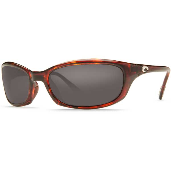 Costa Harpoon Sunglasses, Tortoise Frames with 580P Gray Lenses Brown/gray