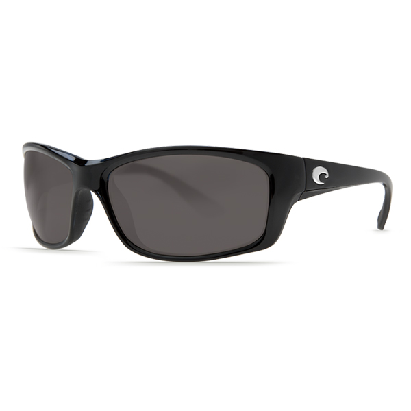 Jose Sunglasses, Black Frames with Costa 580 Gray Plastic Lenses