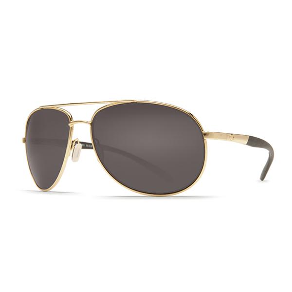 Wingman Sunglasses, Gold Frames with Costa 580 Gray Plastic Lenses Gold/gray Sale $199.00 SKU: 12223566 ID# WM 26 OGP UPC# 97963476133 :
