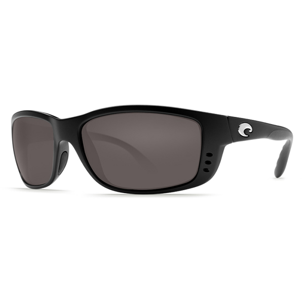 Zane Sunglasses, Matte Black/gray Frames with Costa 580 Gray Plastic Lenses
