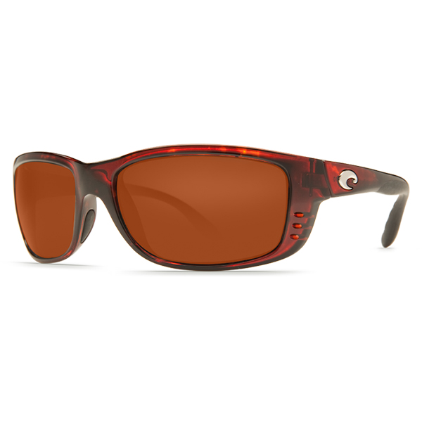 Zane Sunglasses, Shiny Tortoise Frames with Costa 580 Copper Plastic Lenses Brown