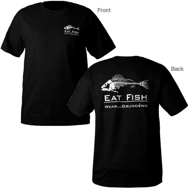 Grundens men 39 s eat fish t shirt west marine for West marine fishing shirts