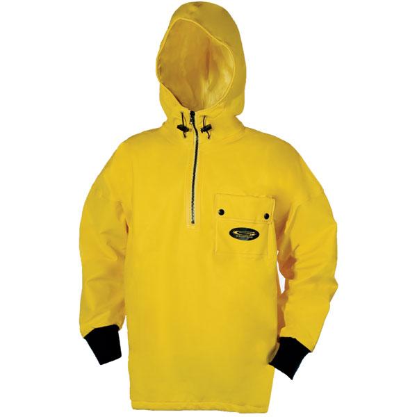 Grundens Men's Sund 763 Waterproof Fleece-Lined Hooded Pullover Yellow