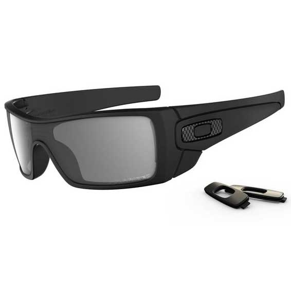 Oakley Polarized Batwolf Sunglasses, Matte Black/gray Frames with Gray Polarized Lenses