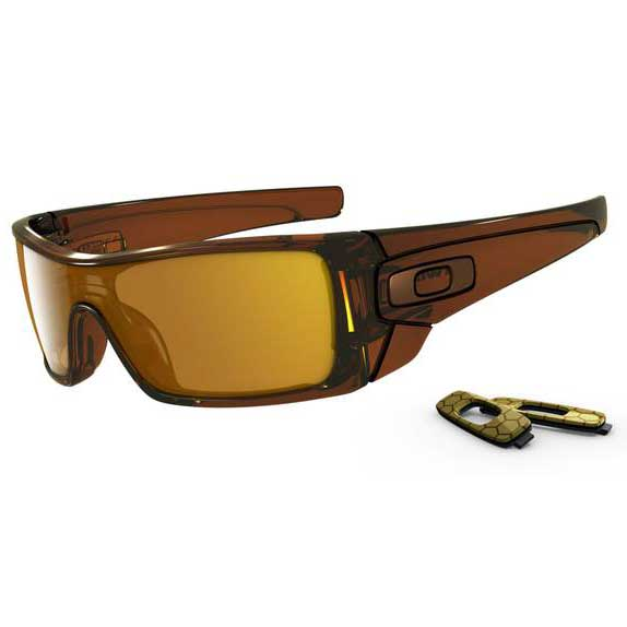 Oakley Batwolf Sunglasses, Polished Rootbeer Frames with Dark Bronze Lenses Brown