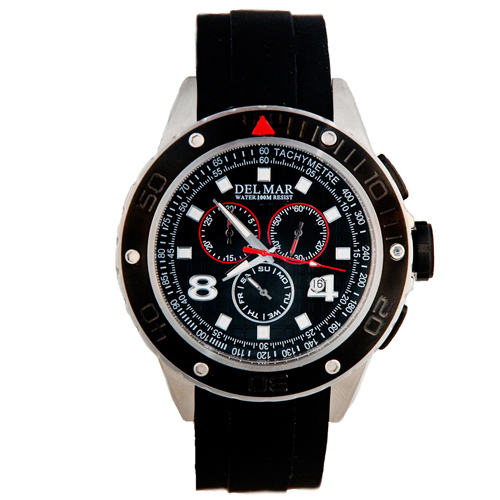 Del Mar Men's 100-Meter Rugged Sport Chronograph Watch Black