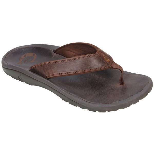 Men's Ohana Leather Sandals, Java, 8
