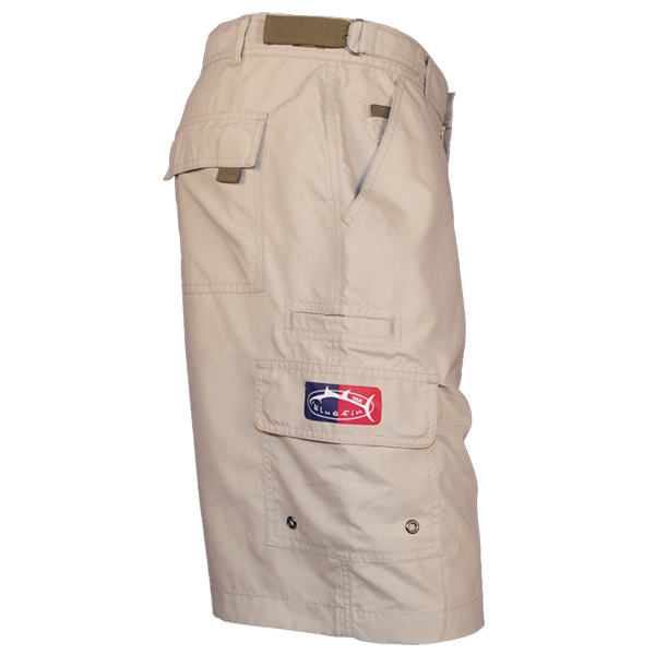 Bluefin Men's Tournament Fishing Shorts, Khaki, 40