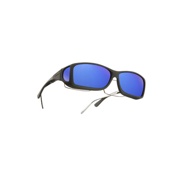 Cocoons Pilot Fitover Sunglasses, Black Frames with Black/blue Mirror Lenses Sale $49.99 SKU: 12313904 ID# C302M UPC# 814484011700 :