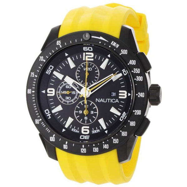 Nautica NST Yachting Chronograph Watch Yellow