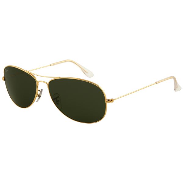 Ray Ban Cockpit Sunglasses, Arista Frames with Gray 15 XLT Lenses Arista/gray