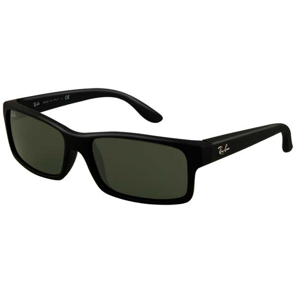 Ray Ban Fast & Furious Sunglasses, Black Rubber Frames with Black/green Lenses