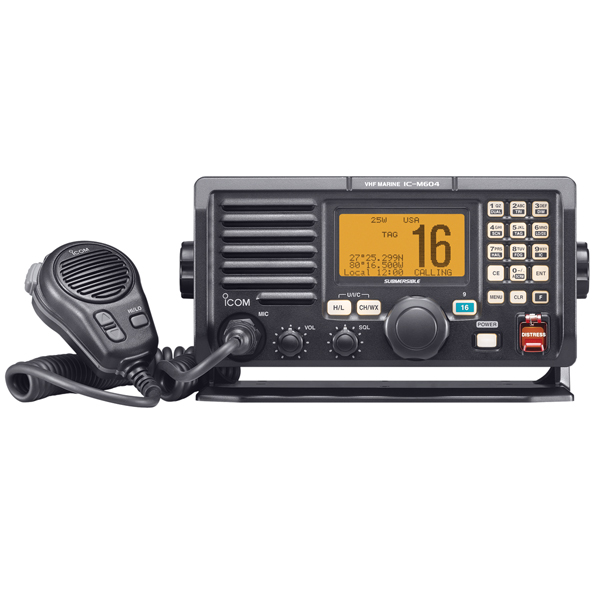 ICOM M604A Submersible DSC VHF Radio, Black