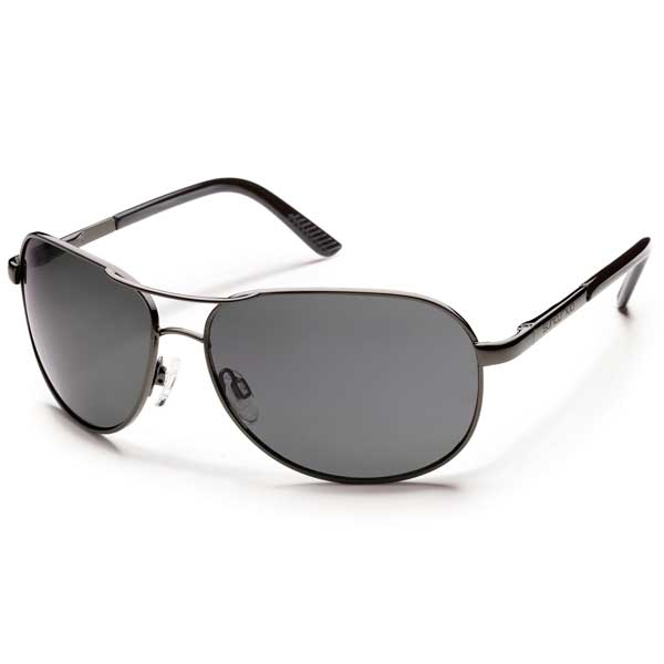 Suncloud Aviator Sunglasses, Gunmetal Frames with Gray Lenses Gray