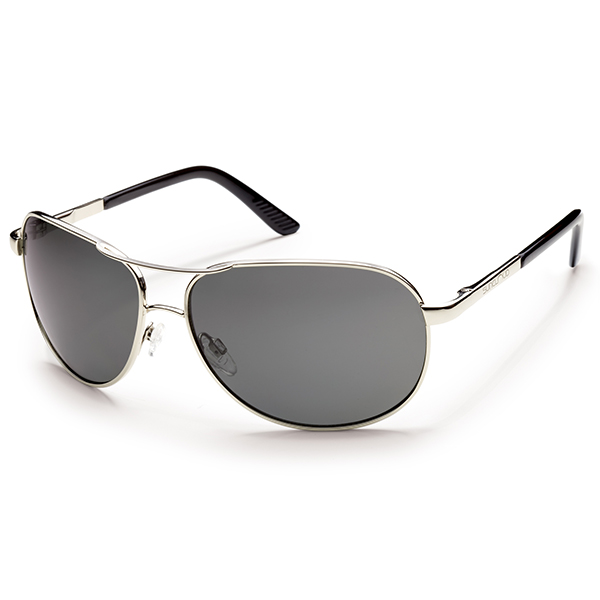 Suncloud Aviator Sunglasses, Gray Frames with Grey Lenses
