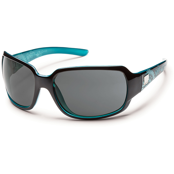 Suncloud Cookie Polarized Sunglasses, Black/teal & Teal Frames with Grey Lenses Sale $49.99 SKU: 15208952 ID# S-COPPGYBKZ UPC# 715757450595 :
