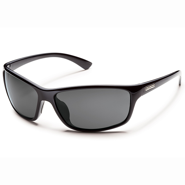 Suncloud Sentry Polarized Sunglasses, Black/gray Frames with Grey Lenses
