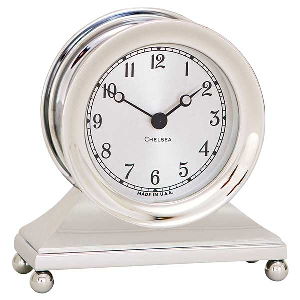 Chelsea Clock Constitution Clock in Nickel