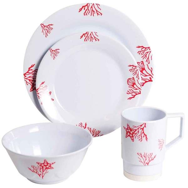 Galleyware Coral 16 Piece Dinnerware Set